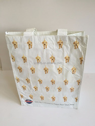 Large RPET White Shopping Bag Dog Tote