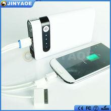 Emergency tool kit 12v portable car auto multi-function jump starter with flashlight