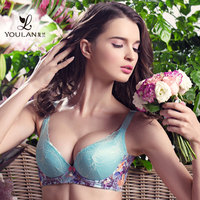 New Design Delicate Young Girl Flower Embroiderey Pakistan Sexy Net Bra