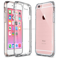 2015 New Crystal Clear Transparent Shock-Absorption Bumper Case with Hard Clear Back Panel Cover for iPhone 6/6S 4.7 inch