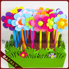 Promotion hot sell new style factory directly flower ball pen with pot,novelty flower rubber ball pen,flower pen
