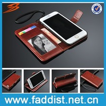 Manufacture pu leather case for iphone 6 Premium wallet case for iphone 6 with wallet case