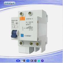 DZ47LE Mini Circuit Breaker Earth Leakage Circuit Breaker ,RCCB 6-63a electric circuit breaker 1P+N