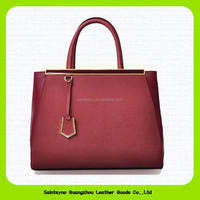 15030 Elegant classical Style Fashion Brand Designer cow leather Lady Handbags 2015