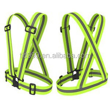 The Tuvizo Reflective Vest for High Visibility 24/7. An adjustable, lightweight, elastic Reflective Belt/Safety Vest for Running