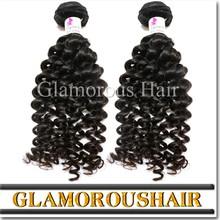 Original no shedding unprocessed brazilian hair bundle, cheap remy brazilian deep curl hair weaving
