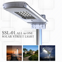 Smart Waterproof Led Solar Street Light Lithium Battery Rechargeable