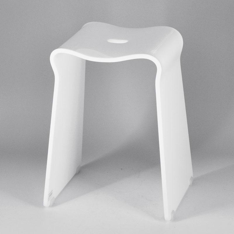 Carr design simple petite blanc salle de bains en plastique selles tabourets et bancs id de for Tablette salle de bain plastique
