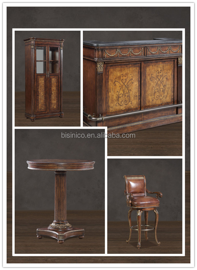 Style am ricain r tro bar ensemble de meubles bois massif for Meuble bar americain