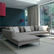Modern Italy Fabric Big L Shape Corner Sofa Set Designs Sofa Corner