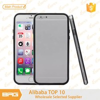 BRG Soft Rubber Silicone TPU Bumper Frame pc phone case for iphone 6