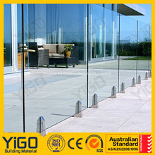tempered glass for pool/12mm thick tempered glass fence panels