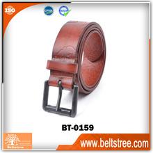 Man special pattern embossed genuine leather waist belt