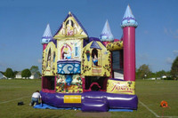 customize beautiful princess castle inflatable bounce house, bouncer and jumper for kids
