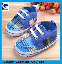 Cotton Fabric & Plaid Design Baby Walker Wholesale Baby Shoes Boy