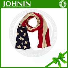 China supplier wholesale silk printing design weave American scarf