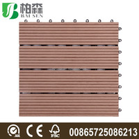 Garden Swimming pool decoration DIY flooring 300*300*22MM / WPC interlocking composite decking tiles