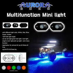 "High optical efficiency 2"" 9W RGB mini led motorcycle lamp moto light"