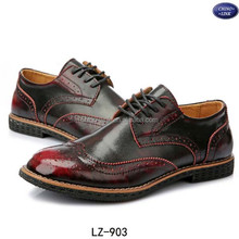 2015 new product customize men soft leather brogue shoes