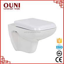 ON714 porcelain popular round european diamnd wall hung toilet