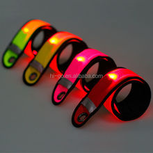 Super Bright led slap armband nylon fabric armbands led snap armband