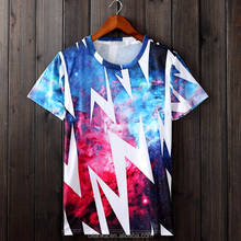 2015 new design OEM service 3D sublimation printing high quality o-neck Tshirt