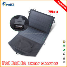 best selling products 7W portable solar panel battery charger mobile power bank
