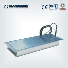 clangsonic immersible ultrasonic transducer with piezoelectric sensor