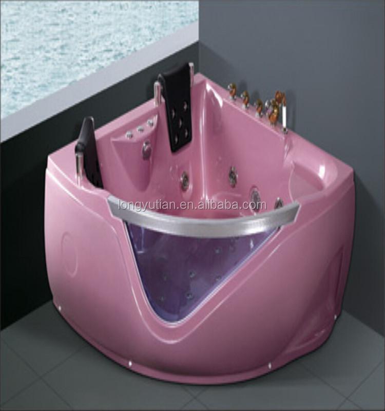 Pink doble 2 personas de hidromasaje masaje bañera de esquina ...