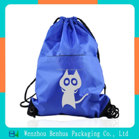 Cute polyester drawstring backpack travel bag