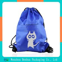 Cute polyester drawstring backpack travel bag