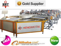 HWT-A1 6-16 Colors Automatic Oval Textile t shirt Screen Printing Machine For t shirt And Label
