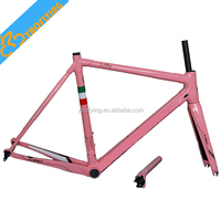 Popular pink C60 road bike carbon frame lightweight carbon road bike frame full carbon road frame for bicycle racing