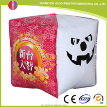 Freely design logo printing inflatable advertising cube balloon