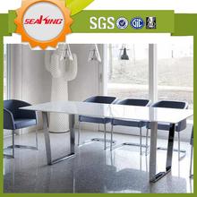 Mesa de comedor bases para vidrio superior, acero inoxidable mesa de comedor base