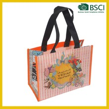 fancy gift pictures printing non woven laminated shopping bag laminated