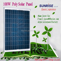 High quality pv panel Poly 100W home solar panel of factory direct sale made in China