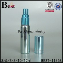 5ml perfume aluminum bottle, aluminum blue perfume atomizer