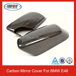REAL CARBON FIBER E46 MIRROR COVER 98-06 FOR BMW E46 3-SERIES 325 330 323
