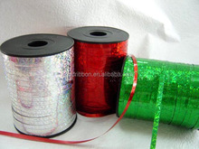 2014 HOT SALE ! Silver/RED/Green Crimped Poly Curly Ribbon, Curly Ribbon Egg, PP Ribbon Cops