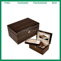 luxury hot sale wooden jewelry case with mirror