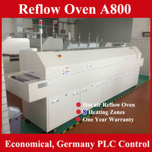 2015 Automatic zhuomao LED Reflow Soldering Machine A800 /Lead free reflow oven with 8 zones