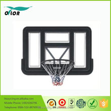 Deluxe black wall mounting glass basketball backboard system