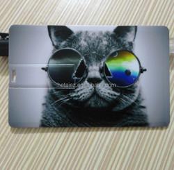 Portable credit card shaped usb flash drive with custom logo