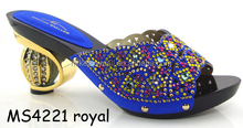 Fashion design MS4221 Italian rolay shoe and bag set summer shoes for women Crystal new design ladies shoes for party