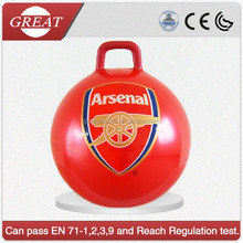 Beautiful Kids light 45cm jumping bouncy ball with handle