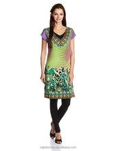 Women's fashion Polyester Straight Fit Kurta