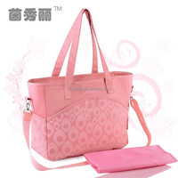 Fashion Baby Diaper Bags Set Made By Microfiber With Printing