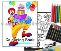 Promotional Educational and Fancy Children's sticker book Color Book