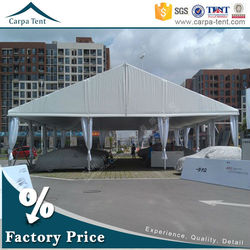 Permanent waterproof 10 by 25m canopy tent for motorcycle storage garage tent for car with durable aluminium structure pvc roof